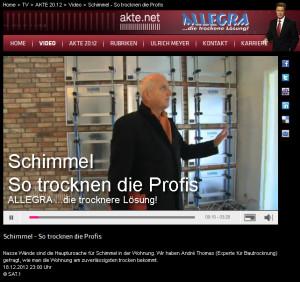 Trocknungstechnik von den Profis bei SAT 1 | AKTE2012